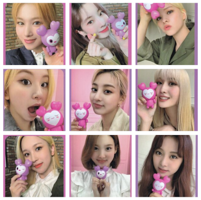 TWICE Lovely Plastic Model Photocards