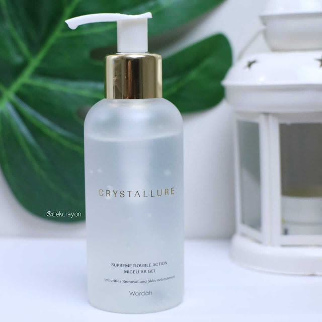 review wardah Crystallure Supreme Double Action Micellar Gel