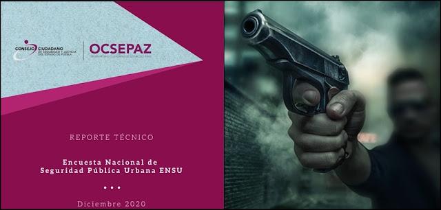 Checa la Encuesta Nacional de Seguridad Pública Urbana (ENSU) del cuarto trimestre del 2020
