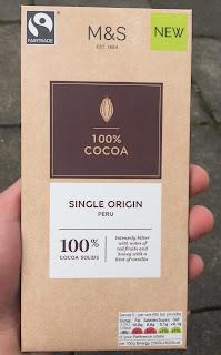 Marks and Spencer 100% Cocoa Single Origin Dark Chocolate