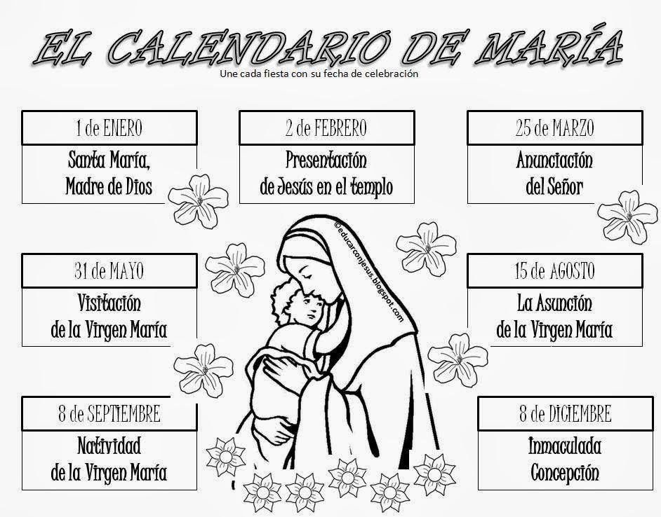 Dibujos Virgen Maria Para Colorear Dibujos Para Colorear