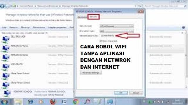 Cara Bobol Wifi Tanpa Aplikasi