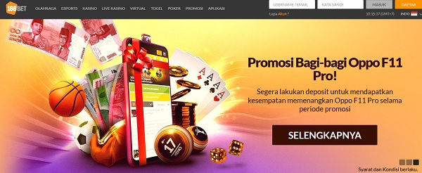 188BET Indonesia Bagikan Oppo F11 Pro