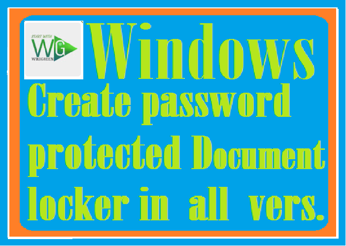 http://www.wikigreen.in/2020/01/how-to-create-password-protected.html