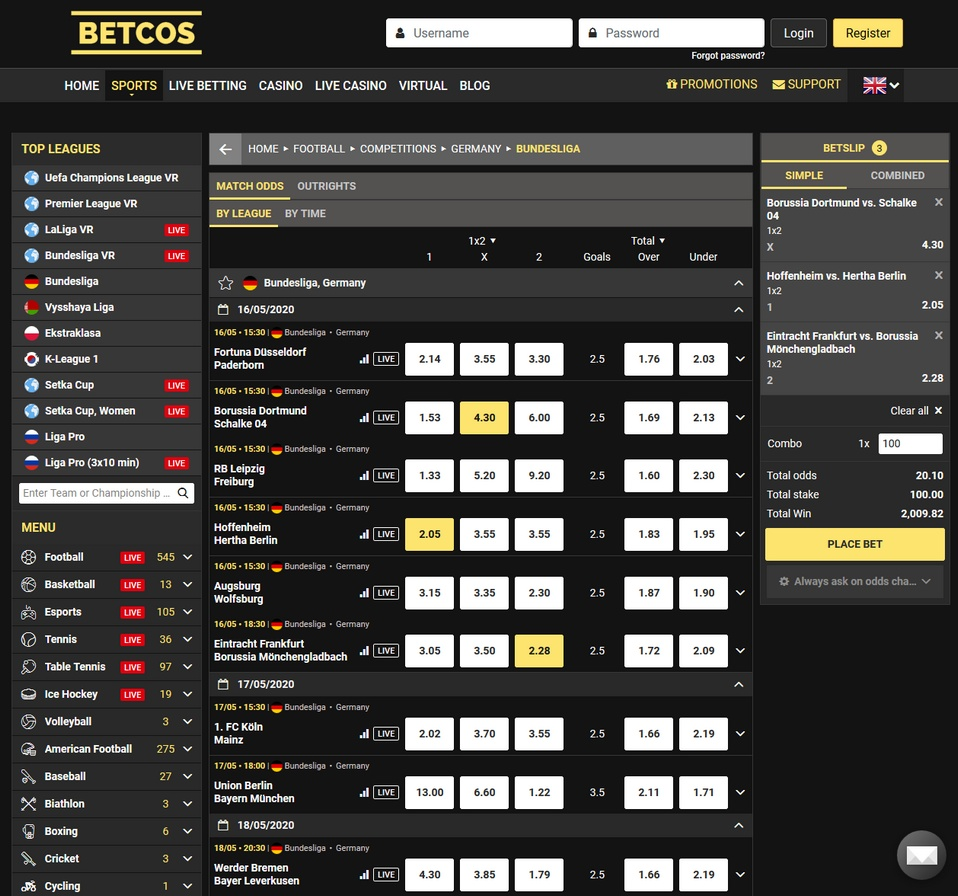 Betcos Screen