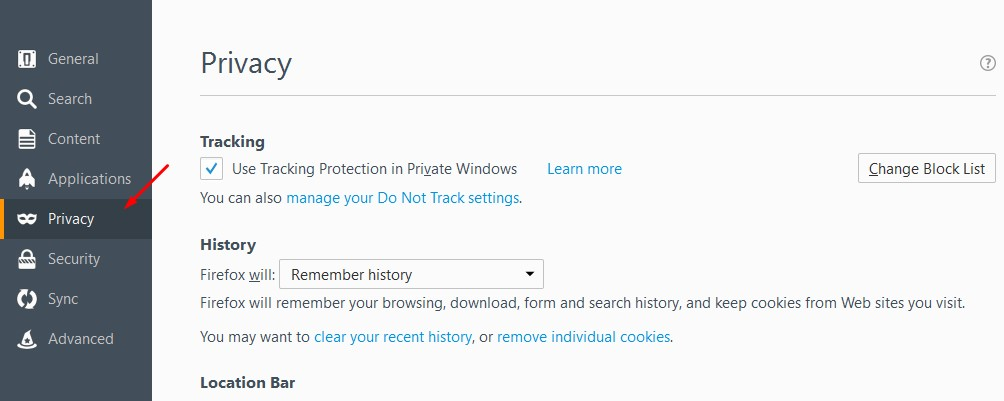 Protect your privacy by delete browsing data