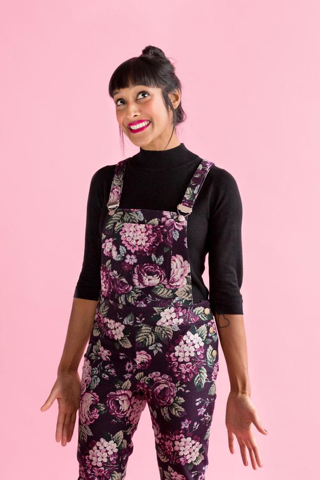 Mila dungarees sewing pattern