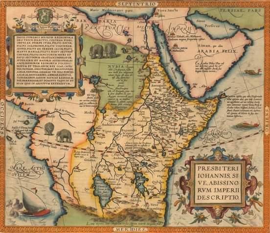 خريطة متوهمة لمملكة القديس يوحنا ( prester John )