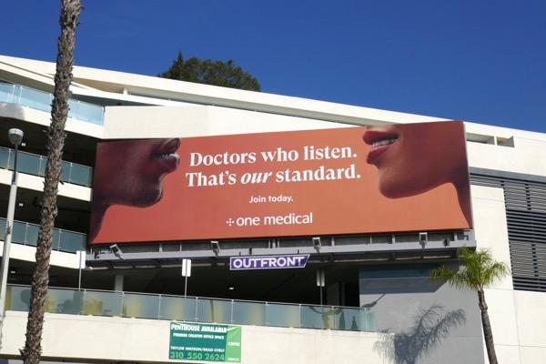 One Medical Doctors who listen billboard