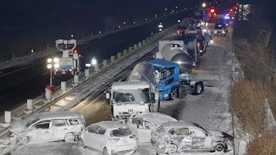 Japón: accidente de tránsito involucra a 140 vehículos y deja un muerto