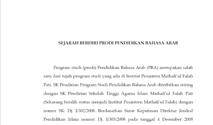 Profil Prodi PBA IPMAFA