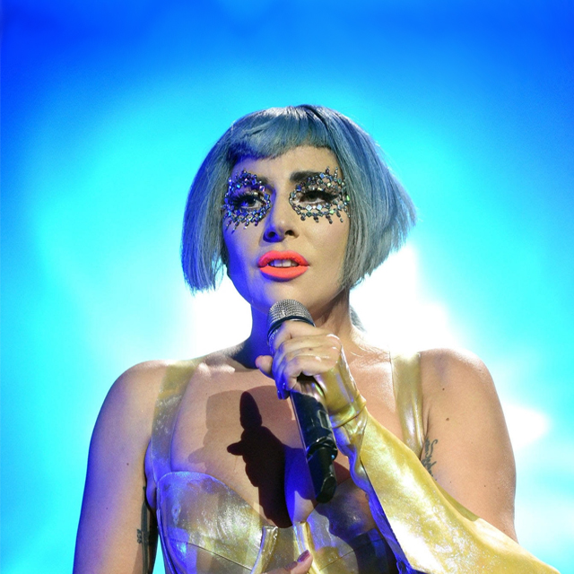 Lady Gaga Performs at Super Saturday Night