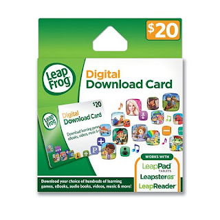 Enter the Leap Frog Digital Download Card Giveaway. Ends 11/30.
