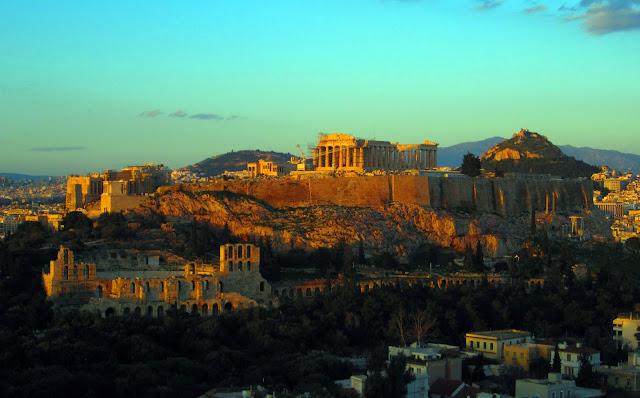La Acrópolis y Atenas_atardecer