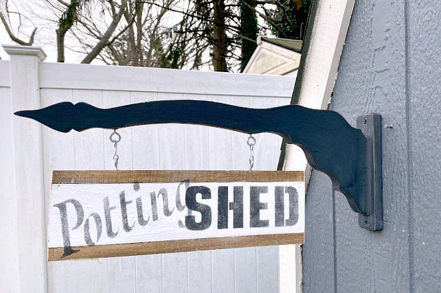 Make a Two Sided Hanging Potting Shed Sign