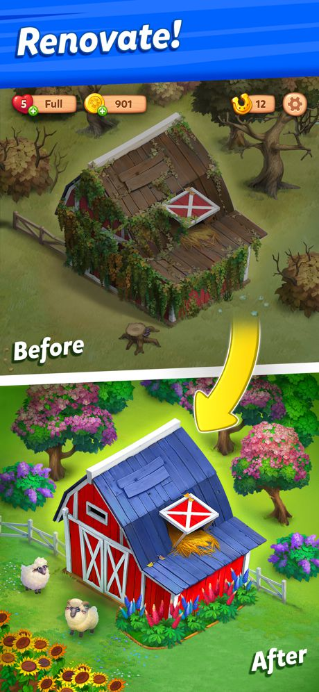 Farmscapes Mod Apk (Unlimited Money + Horseshoes) 4