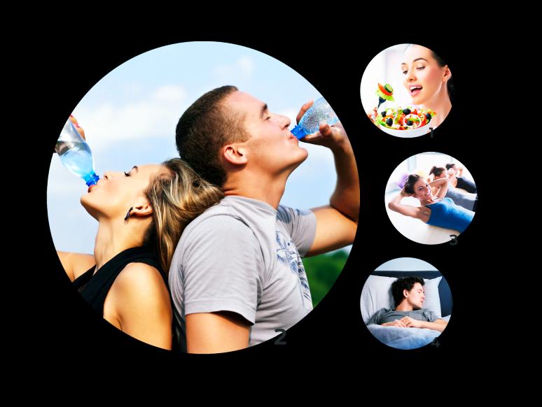 Os 4 pilares para uma vida saudável e feliz!