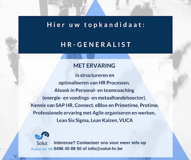 Job kandidaat HR-generalist Solut rekrutering