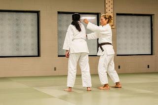 A sensei explaining a technique | Japanese Karate Association