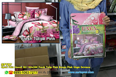 Sprei Fata Queen B2 160×200 Fresh Tulip Pink Bunga Pink Ungu Dewasa