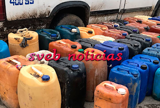 Aseguran gasolina robada en la comunidad de Aire Libre de Tuxpan Veracruz