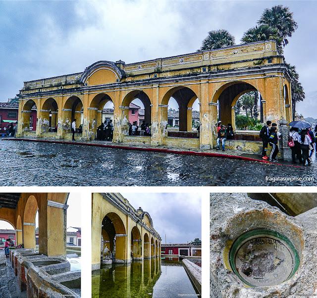 Antigo lavadero, local usado para lavar roupas na época colonial em Antigua Guatemala