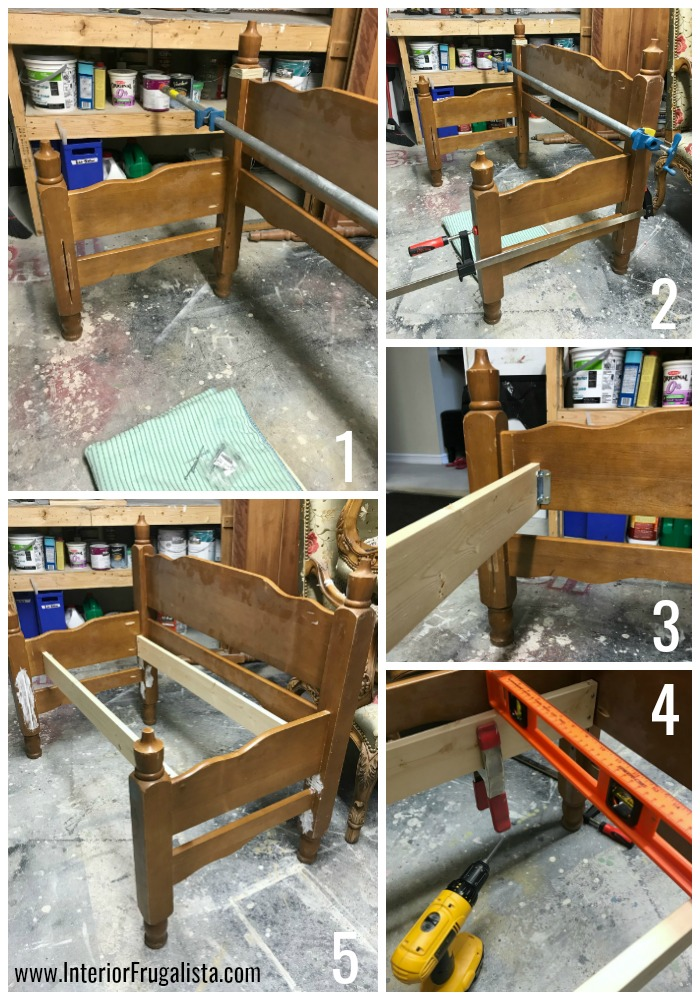 Headboard Garden Bench Assembly Steps