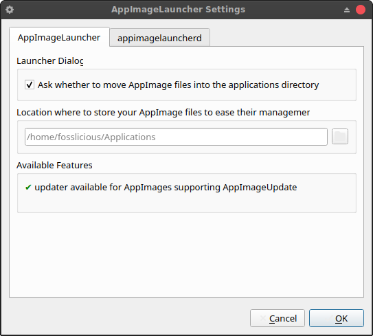 Appimagelauncher: an easy way to set up the Appimage application