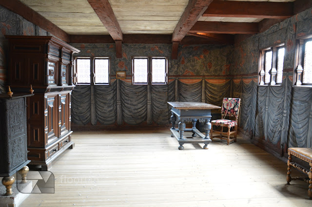 Wspaniałe wnętrza w muzeum Den Gamle By w Duńskim Aarhus