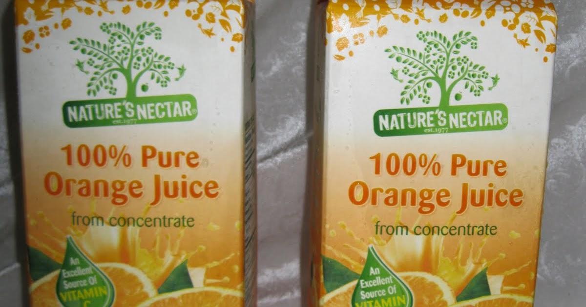Nature S Nectar Orange Juice Review