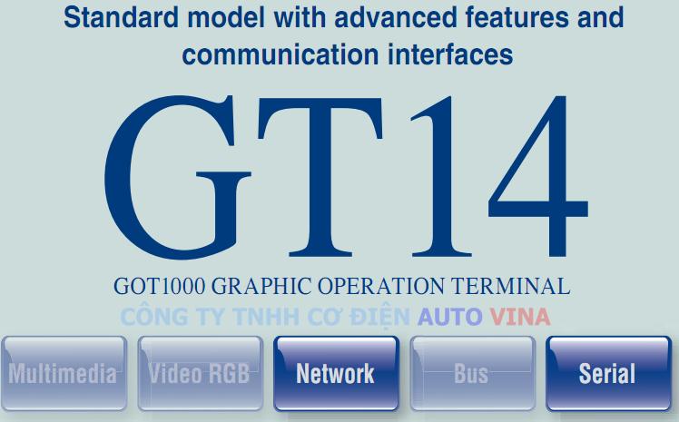 Đại lý bán màn hình Mitsubishi GT14 - GOT1000 Series