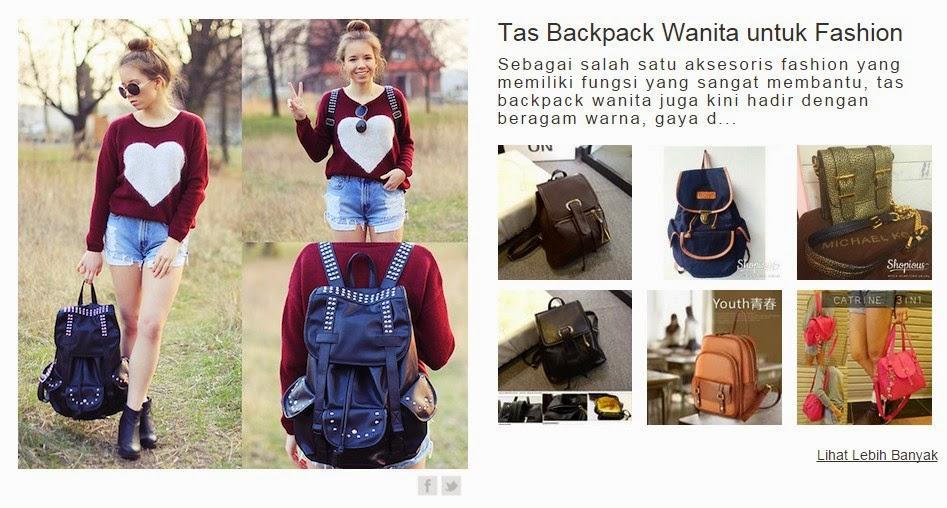 Inspirasi Tas Backpack Wanita di Shopious.com