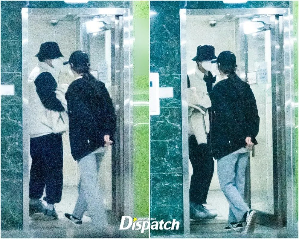 Dispatch Releases Photos of Seo Ji Hye and Kim Jung Hyun While Daating at Home