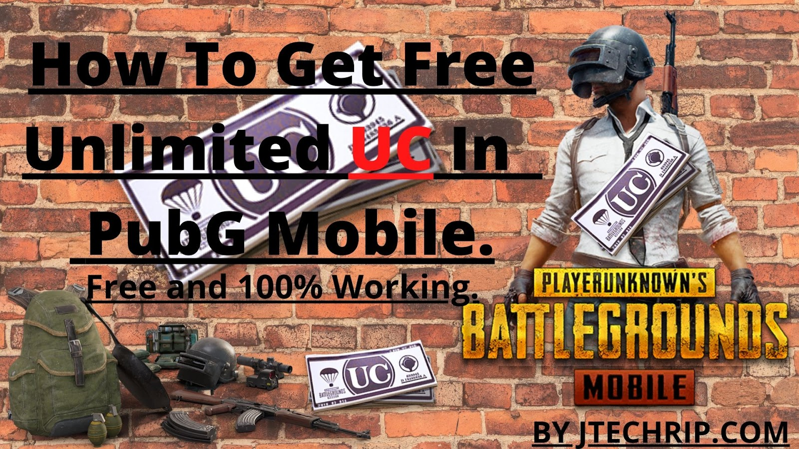 How To Get Free Unlimited UC In PubG Mobile.