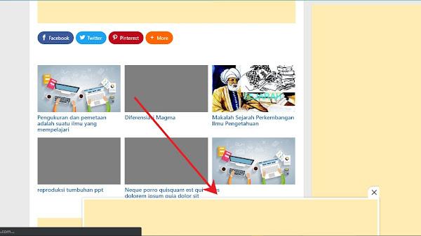 Cách tạo quảng cáo cố định ở cuối màn hình máy tính cho blogspot