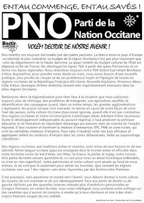 Projets du candidat occitan de la 8ème circonscription Haute Garonne