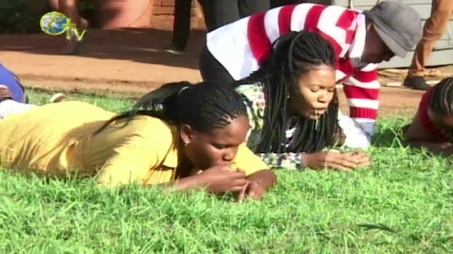 Church members reportedly acting on their pastor's order to chew grass