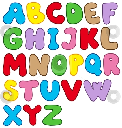Colorful alphabet letters stock photos