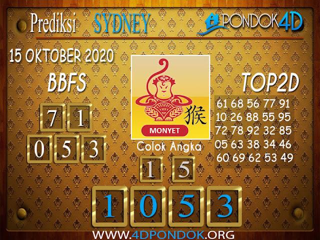Prediksi Togel SYDNEY PONDOK4D 15 OKTOBER 2020