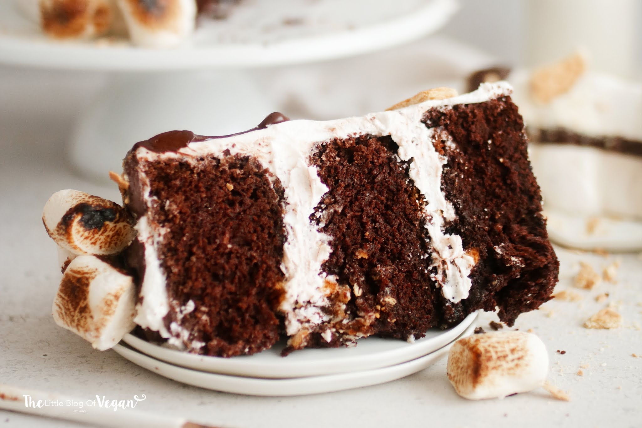 Vegan S'mores Cake recipe