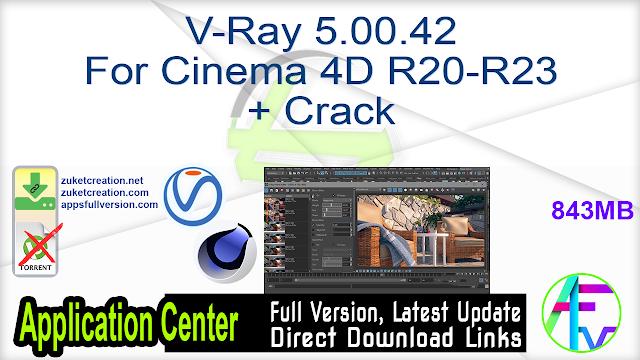 V-Ray 5.00.42 For Cinema 4D R20-R23 + Crack