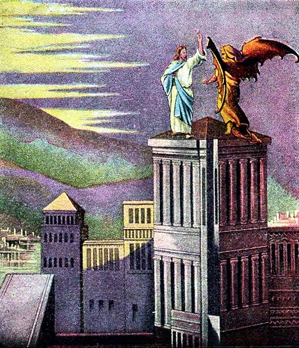 Satan Tempting Jesus on the Temple's Pinnacle