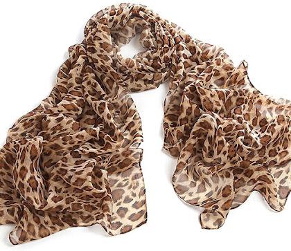Best Leopard Pattern Sheer Chiffon Scarf