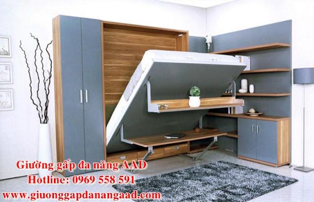 Giường gấp dọc đa năng cao cấp GAAD1