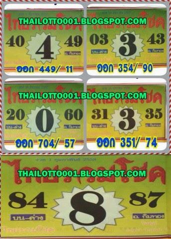 Thai lottery 001 vip single sure and pairs 01 02 2015 thai lotto 001