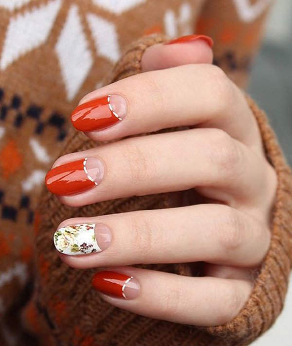 "Some ""In Trend"" Half Moon Nail Art Ideas To Try"