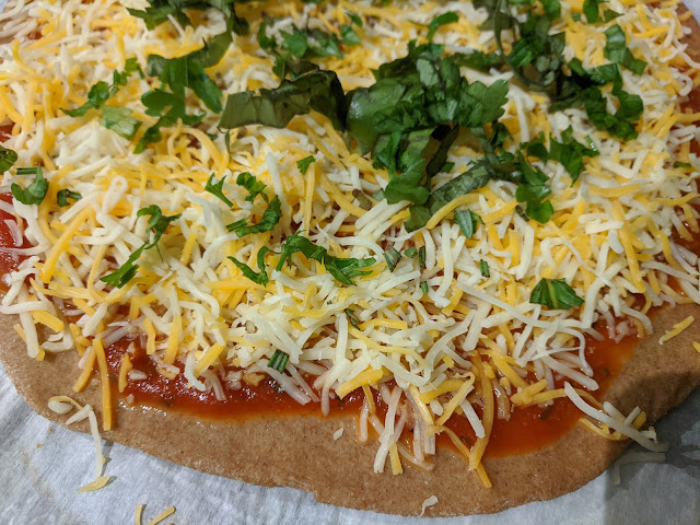 Homemade no yeast whole wheat pizza