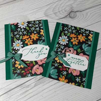 Floral handmade greeting card using Flower & Field Designer Series Paper