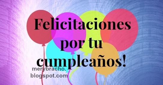 Imagen con frases felicitación globos cumpleaños
