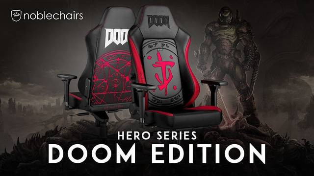 Sorteio da Cadeira gamer Doom Edition Gaming Chair